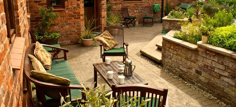 Stone texture patio - Whitchurch
